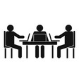 conference icon simple style vector image vector image