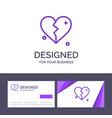 creative business card and logo template broken vector image vector image