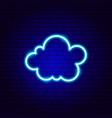 cute cloud neon sign vector image vector image