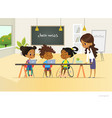 disabled african american girl and two other vector image