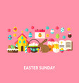 easter sunday greeting card vector image vector image