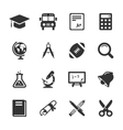 Education and school icons white vector image