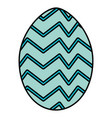 egg painted happy easter with geometric figures vector image vector image