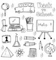 Element school doodles for kids vector image vector image