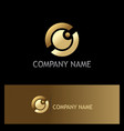 eye ball gold vision logo vector image vector image