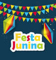 festa junina background brazil june festival vector image
