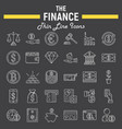 finance line icon set business symbols collection vector image vector image