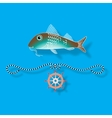 Fish and nautical design elements vector image vector image