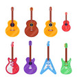 flat guitar instrument ukulele acoustic vector image vector image