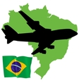 fly me to the Brazil vector image vector image
