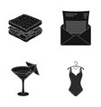 food alcohol and other web icon in black style vector image vector image