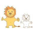 Funny cartoon lion vector image vector image