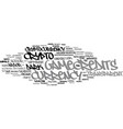 gamecredits word cloud concept vector image vector image