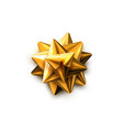 golden bow realistic vector image vector image