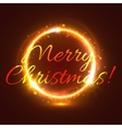 Golden sparkling star circle for Christmas card vector image vector image