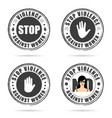 grunge rubber stop violence against woman sign on vector image