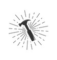 hammer icon hammer logo vector image vector image