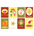 hello autumn set of banners vector image vector image