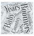 information on baby boomers Word Cloud Concept vector image vector image