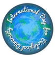 international day for biological diversity convex vector image vector image