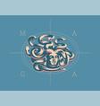 medusa of the gorgon vector image