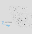 network abstract background with connected vector image vector image