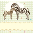 Nice card with two zebras vector image vector image