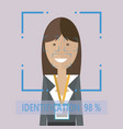 personal identification women vector image
