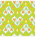 pretty stylized floral pattern seamless repeating vector image vector image