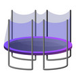 protected trampoline icon cartoon style vector image vector image