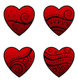 red hearts design vector image vector image