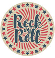 round emblem with inscription rock and roll vector image