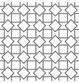 seamless abstract black and white square pattern vector image vector image