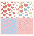 Seamless pattern set with hearts vector image vector image