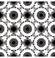 Seamless pattern with white tracery on a black vector image