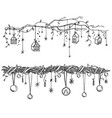 set christmas and new year decorations vector image