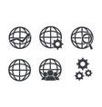 set social global discussion to people discussion vector image