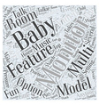 Setting Up Multi room Baby Monitors Word Cloud vector image vector image