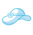 silhouette summer hat to be in the beach vector image