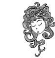 sleepy girl vector image vector image