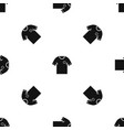 soccer shirt pattern seamless black vector image vector image