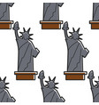 statue liberty usa symbol seamless pattern vector image vector image