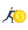 Time investmen concept finance and money investor vector image vector image