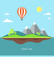 travel flat with landscape vector image vector image