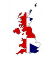 united kingdom map and flag vector image vector image