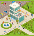 urban architecture isometric composition vector image