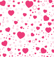 Valentine Day and Pink Heart isolated on white vector image vector image