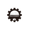 vintage gear machinery logo label designs vector image