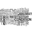 what may signify the presence of infertility text vector image vector image