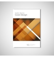 White classic brochure template design with brown vector image